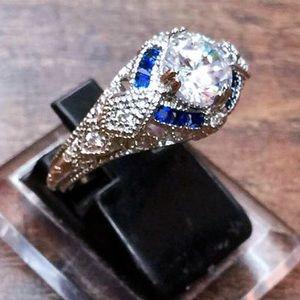 Jewelry - Topaz & Tanzanite sterling silver ring